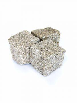 Kopfsteinpflaster Granit gelb