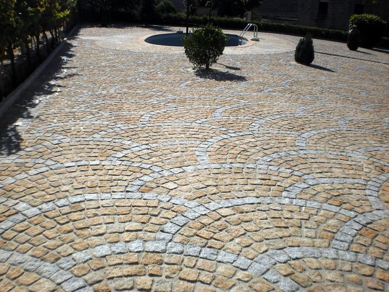 Verlegemuster Granitpflaster kopfsteinpflaster verlegemuster segmentbogenverband
